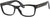 Givenchy GV 0003 Rectangular Eyeglasses 0D28-0D28  Shiny Black (00 Demo Lens)