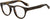 Givenchy GV 0007 Oval Modified Eyeglasses 0086-0086  Dark Havana (00 Demo Lens)