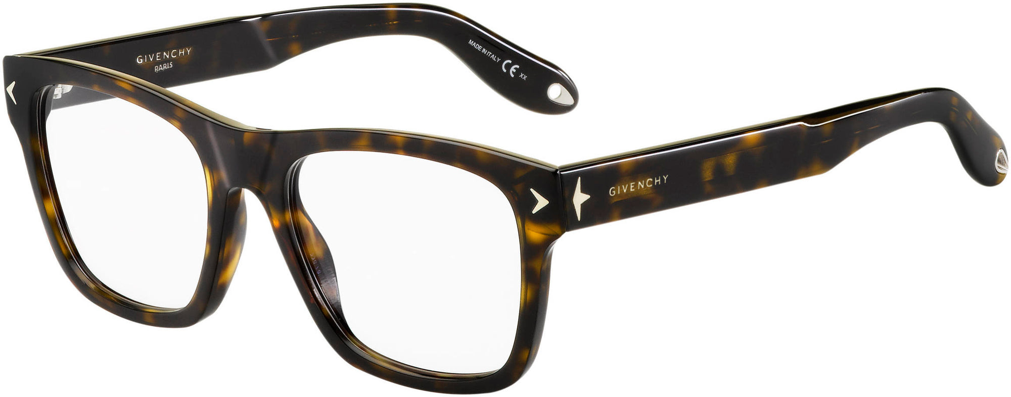 Givenchy GV 0010 Rectangular Eyeglasses 0086-0086  Dark Havana (00 Demo Lens)