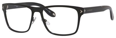 GIVENCHY Gv 0011 Rectangular Eyeglasses 065Z-SHINY BLACK
