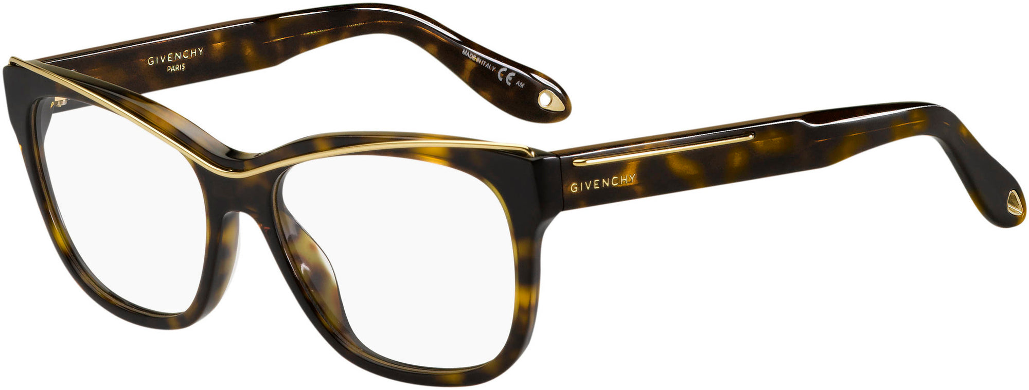 Givenchy GV 0027 Rectangular Eyeglasses 0086-0086  Dark Havana (00 Demo Lens)