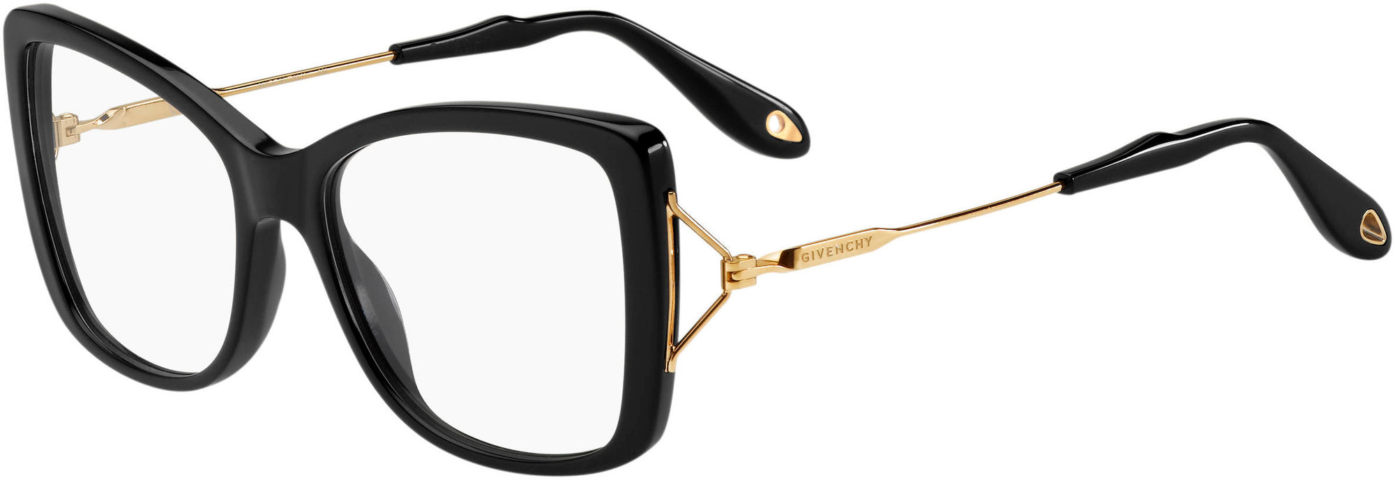 Givenchy GV 0028 Rectangular Eyeglasses 0ANW-0ANW  Black Gold (00 Demo Lens)