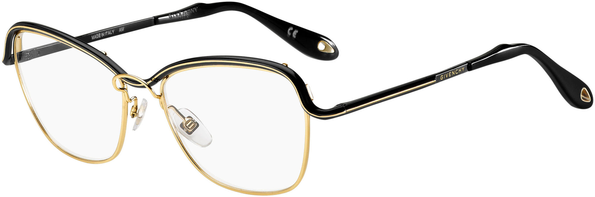 Givenchy GV 0034 Rectangular Eyeglasses 0DYD-0DYD  Gold Black (00 Demo Lens)