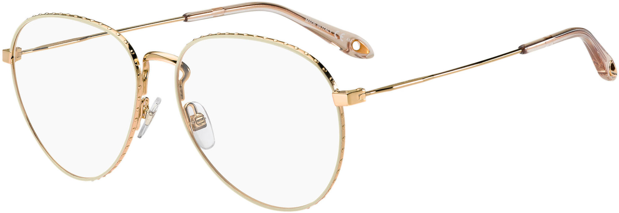 Givenchy GV 0071 Aviator Eyeglasses 084E-084E  Gold Beige (00 Demo Lens)