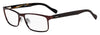 HUGO BOSS (HUB) Hg 0151 Rectangular Eyeglasses 04IN-Matte Brown