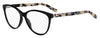 HUGO BOSS (HUB) Hg 0202 Cat Eye/Butterfly Eyeglasses 0WR7-Black Havana