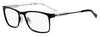 HUGO BOSS (HUB) Hg 0231 Rectangular Eyeglasses 0003-Matte Black