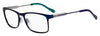 HUGO BOSS (HUB) Hg 0231 Rectangular Eyeglasses 0FLL-Matte Blue