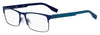 HUGO BOSS (HUB) Hg 0293 Square Eyeglasses 0FLL-Matte Blue