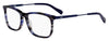 HUGO BOSS (HUB) Hg 0307 Rectangular Eyeglasses 0AVS-Striped Blue