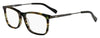 HUGO BOSS (HUB) Hg 0307 Rectangular Eyeglasses 0PF3-Striped Green