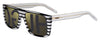 HUGO BOSS (HUB) Hg 1002/S Rectangular Sunglasses 033E-Striped Crystal