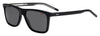 HUGO BOSS (HUB) Hg 1003/S Rectangular Sunglasses 07C5-Black Crystal (Back Order 2 weeks)