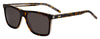 HUGO BOSS (HUB) Hg 1003/S Rectangular Sunglasses 0KRZ-Havana Crystal