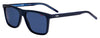 HUGO BOSS (HUB) Hg 1003/S Rectangular Sunglasses 0ZX9-Blue Azure
