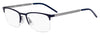 HUGO BOSS (HUB) Hg 1019 Rectangular Eyeglasses 0FLL-Matte Blue