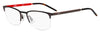 HUGO BOSS (HUB) Hg 1019 Rectangular Eyeglasses 0FRE-Matte Gray