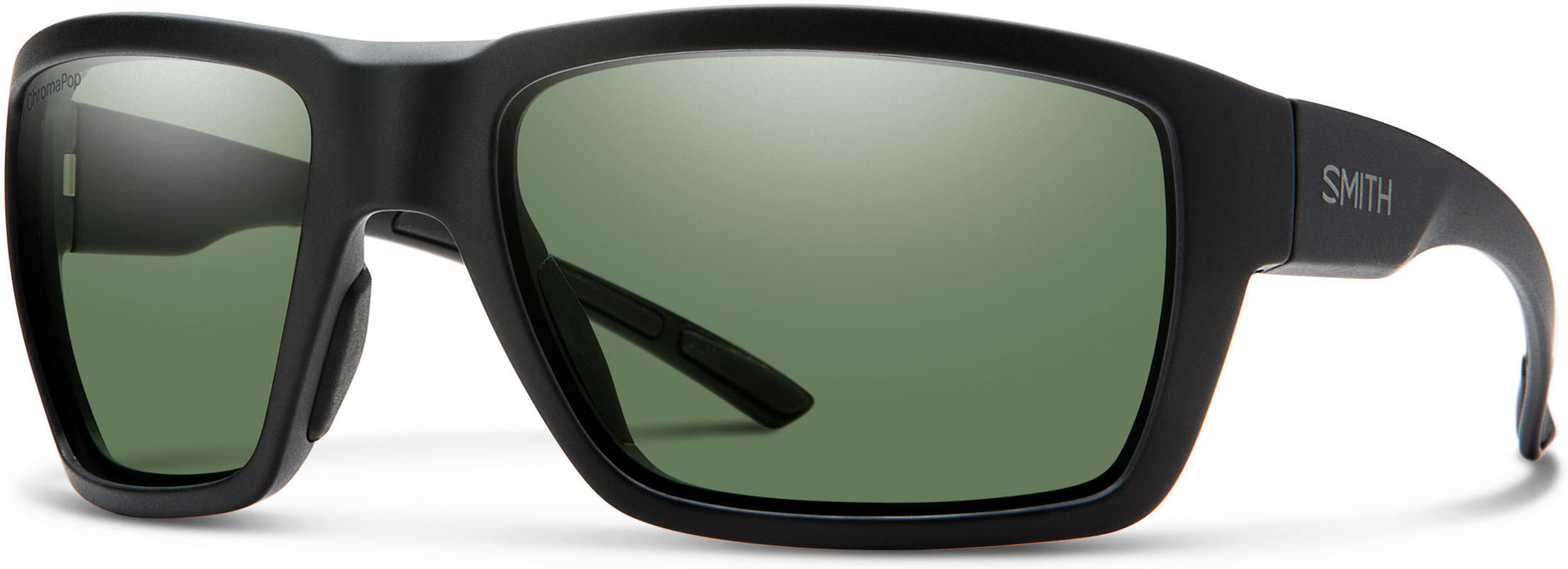 Adensco HIGHWATER Rectangular Sunglasses 0003-0003  Matte Black (L7 Gray Green Cp Pz)