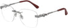 Jimmy Choo JC 214 Square Eyeglasses 0GHP-0GHP  Ruthenium Red (00 Demo Lens)