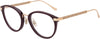 Jimmy Choo JC 220/F Tea Cup Eyeglasses 0LHF-0LHF  Opal Burgundy (00 Demo Lens)