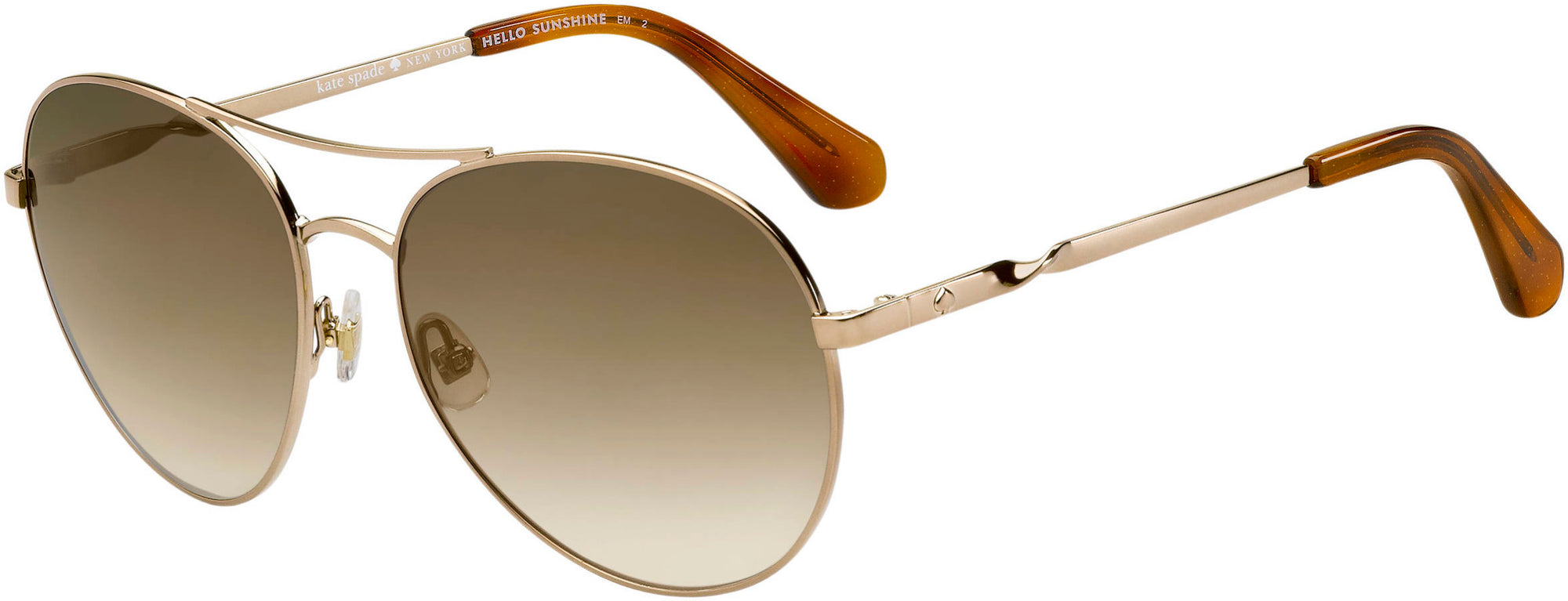 Adensco JOSHELLE/S Aviator Sunglasses 0086-0086  Dark Havana (HA Brown Gradient)