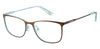 Juicy Couture Juicy 178 Rectangular Eyeglasses 03LG-03LG  Brown Blue (00 Demo Lens)