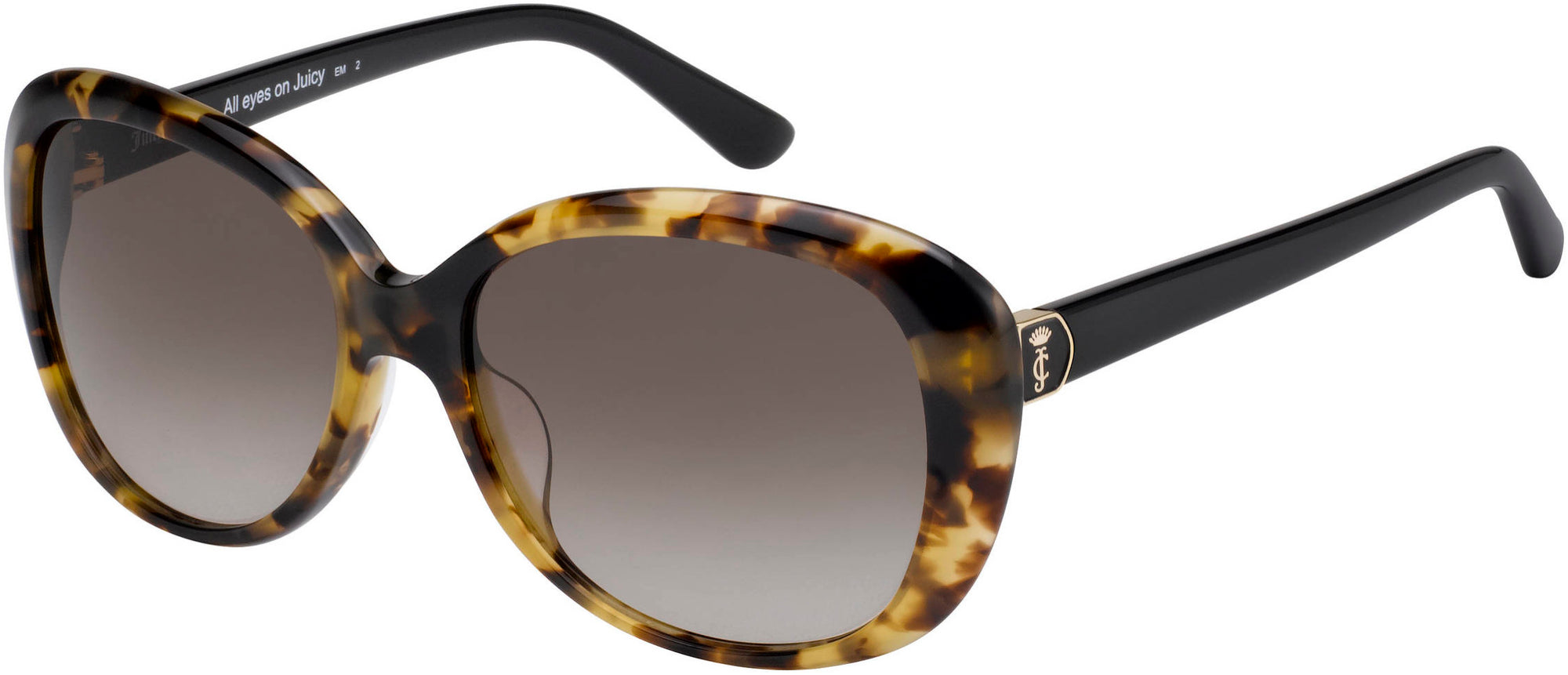 Banana Republic JU 598/S Square Sunglasses 0581-0581  Havana Black (HA Brown Gradient)