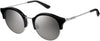 Juicy Couture JU 601/S Oval Modified Sunglasses 0807-0807  Black (IC Gray Mirror Shaded Silver)