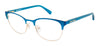 Juicy Couture Juicy 936 Rectangular Eyeglasses 0FLL-0FLL  Matte Blue (00 Demo Lens)
