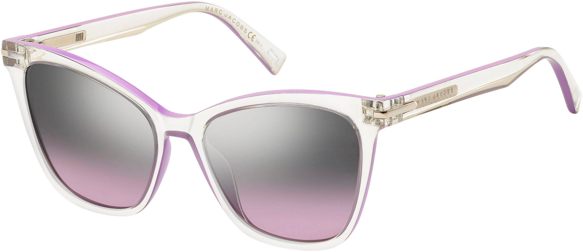 Marc Jacobs Marc 223/S Cat Eye/butterfly Sunglasses 0141-0141  Crystal Rubpu (SC Gray/Silver Mirror)