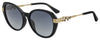 Jimmy Choo Orly/F/S Cat Eye/butterfly Sunglasses 0807-0807  Black (9O Dark Gray Gradient)