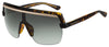 Jimmy Choo Pose/S Rectangular Sunglasses 0086-0086  Dark Havana (9O Dark Gray Gradient)