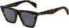 Rag & Bone RNB 1025/S Cat Eye/Butterfly Sunglasses 0086-0086  Dark Havana (IR Gray Blue)