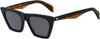 Rag & Bone RNB 1025/S Cat Eye/Butterfly Sunglasses 0807-0807  Black (IR Gray Blue)