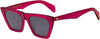 Rag & Bone RNB 1025/S Cat Eye/Butterfly Sunglasses 0MU1-0MU1  Fuchsia (IR Gray Blue)