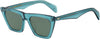 Rag & Bone RNB 1025/S Cat Eye/Butterfly Sunglasses 0ZI9-0ZI9  Transparent Teal Tea (QT Green)