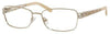 SAKS FIFTH AVE Saks 273 Rectangular Eyeglasses 03YG-Light Gold