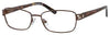 SAKS FIFTH AVE Saks 273 Rectangular Eyeglasses 0JRK-Brown