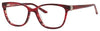 SAKS FIFTH AVE Saks 295 Cat Eye/Butterfly Eyeglasses 0EA6-Red