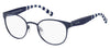 Tommy Hilfiger T. Hilfiger 1484 Oval Modified Eyeglasses 0PJP-0PJP  Blue (00 Demo Lens)