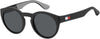 Tommy Hilfiger TH 1555/S Tea Cup Sunglasses 008A-008A  Black Gray (IR Gray Blue)