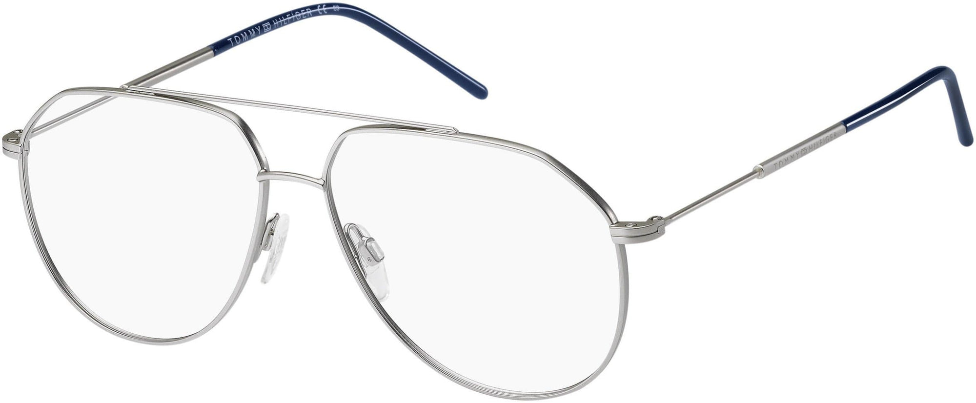 Tommy Hilfiger TH 1585 Aviator Eyeglasses 0CTL-0CTL  Matte Palladium (00 Demo Lens)