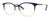 Banana Republic Vivica Aviator Eyeglasses 0KY2-0KY2  Blue Gold (00 Demo Lens)