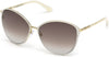 Tom Ford FT0320 Penelope Round Sunglasses 32F-32F - Shiny Pale Gold, Shiny Ivory Coating / Gradient Brown Lenses