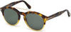 Tom Ford FT0515 Newman Geometric Sunglasses 56N-56N - Havana/other / Green