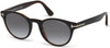 Tom Ford FT0522 Palmer Round Sunglasses 05B-05B - Black/other / Gradient Smoke