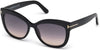 Tom Ford FT0524 Alistair Geometric Sunglasses 01B-01B - Shiny Black / Gradient Smoke Lenses