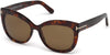 Tom Ford FT0524 Alistair Geometric Sunglasses 54H-54H - Shiny Red Havana / Brown Polarized Lenses
