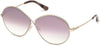 Tom Ford FT0564 Rania-02 Oval Sunglasses 28Z-28Z - Shiny Rose Gold / Gradient