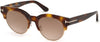 Tom Ford FT0598 Henri-02 Round Sunglasses 53G-53G - Blonde Havana / Brown Mirror